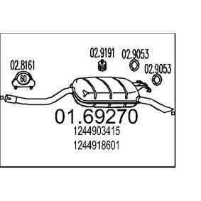 Endschalldämpfer Art. Nr. 01.69270 120,00€
