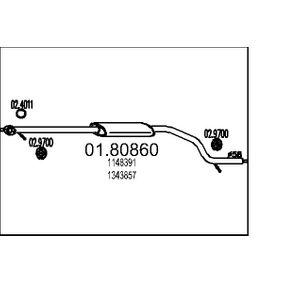 Mittelschalldämpfer 01.80860 MONDEO 3 Kombi (BWY) 2.0 TDCi Bj 2005
