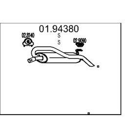 Panela de escape para FIAT Marea Weekend (185) 1.6 100 16V