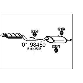 Endschalldämpfer Länge: 0mm mit OEM-Nummer 18 10 1 433 388