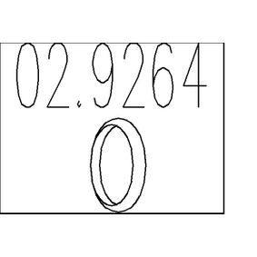Уплътнителен пръстен, изпуск. тръба 02.9264 Jazz 2 (GD_, GE3, GE2) 1.2 i-DSI (GD5, GE2) Г.П. 2007
