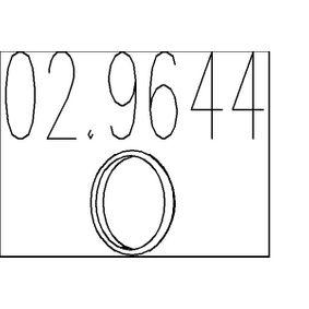 Уплътнителен пръстен, изпуск. тръба 02.9644 Jazz 2 (GD_, GE3, GE2) 1.2 i-DSI (GD5, GE2) Г.П. 2006