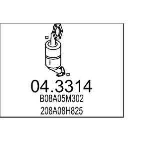 Nissan Almera Tino 2.2dCi Katalysator MTS 04.3314 (2.2 dCi Diesel 2004 YD22DDT)