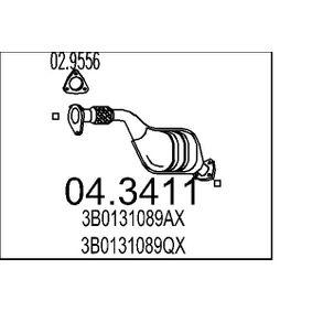 Katalysator VW PASSAT Variant (3B6) 1.9 TDI 130 PS ab 11.2000 MTS Katalysator (04.3411) für