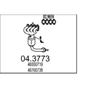 Catalytic Converter 04.3773 PUNTO (188) 1.2 16V 80 MY 2002