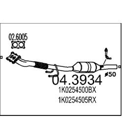 Touran 1T1, 1T2 1.6 Katalysator MTS 04.3934 (1.6 Benzin 2006 BSF)