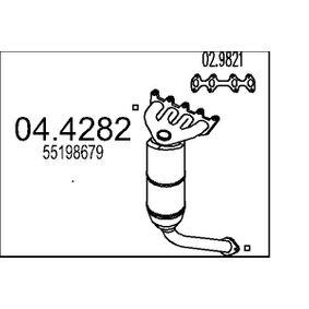 Catalytic Converter 04.4282 PUNTO (188) 1.2 16V 80 MY 2000