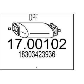 Ruß- / Partikelfilter, Abgasanlage 17.00102 X3 (E83) 2.0 d Bj 2003