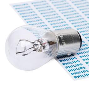 Крушка с нагреваема жичка, стоп светлини / габарити P21/4W, 12волт, BAZ15d, 21/4ват 12594CP