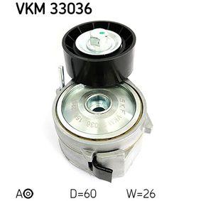 SKF  VKM 33036 Spannrolle, Keilrippenriemen Ø: 60mm, Breite: 25mm