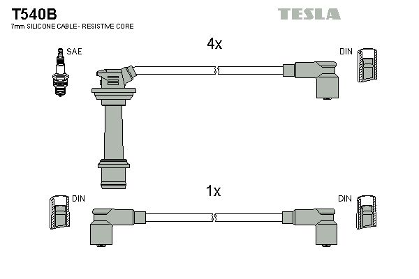 TESLA  T540B Ignition Cable Kit