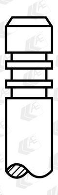 AE  V98010 Einlassventil Länge: 99,5mm, Ventilteller-Ø: 28,8mm, Ventilschaft-Ø: 6mm