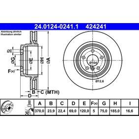 Bremsscheibe Bremsscheibendicke: 23,9mm, Lochanzahl: 5, Ø: 370,0mm mit OEM-Nummer 4242.41.