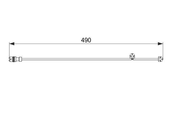 BOSCH WARNKONTAKT BREMSE BREMSBELÄGE PORSCHE 911 Cabriolet(997) 911(997)