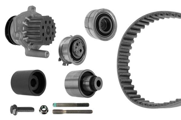 BOSCH  1 987 946 453 Water pump and timing belt kit Length: 1524mm, Width: 25mm