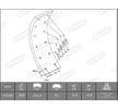 OEM Bremsbelagsatz, Trommelbremse 1534910006015493 von BERAL