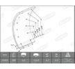 OEM Brake Lining Kit, drum brake BERAL 1735110206015613