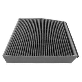 CORTECO  80004409 Filter, Innenraumluft Länge: 254mm, Höhe: 41mm