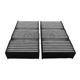 CORTECO  80004552 Filter, Innenraumluft Länge: 253mm, Breite: 133mm, Höhe: 40mm