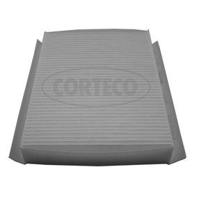 CORTECO  80004572 Filter, Innenraumluft Länge: 220mm, Breite: 167mm, Höhe: 30mm