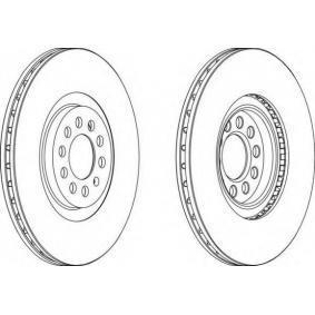 FERODO  DDF1118-1 Bremsscheibe Bremsscheibendicke: 25mm, Lochanzahl: 5, Ø: 312mm