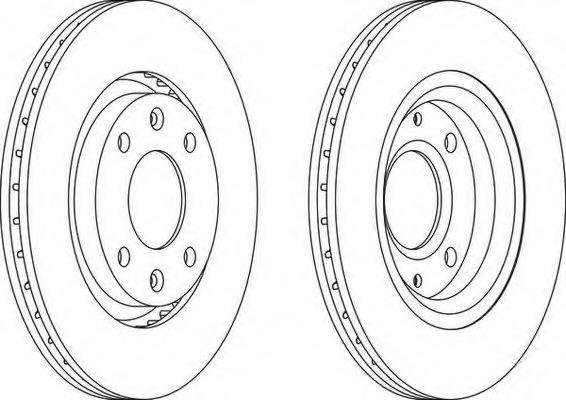 FERODO  DDF1140C-1 Bremsscheibe Bremsscheibendicke: 22mm, Lochanzahl: 4, Ø: 266mm