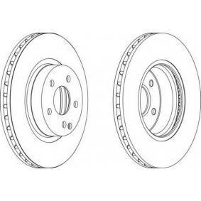 FERODO  DDF1263C-1 Bremsscheibe Bremsscheibendicke: 28mm, Lochanzahl: 5, Ø: 312mm