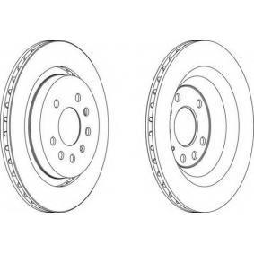FERODO  DDF1289-1 Bremsscheibe Bremsscheibendicke: 20mm, Lochanzahl: 5, Ø: 292mm