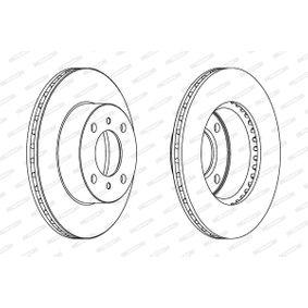 Disco freno (DDF140C-1) per per Indicatore Direzione Laterale FIAT SEICENTO (187) Elettrica dal Anno 03.2000 30 CV di FERODO