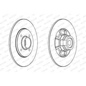 Bremsscheibe Bremsscheibendicke: 8mm, Lochanzahl: 4, Ø: 238mm mit OEM-Nummer 7700 805 148