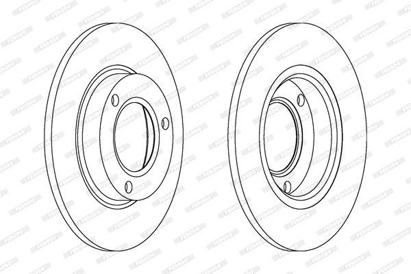 FERODO  DDF485-1 Bremsscheibe Bremsscheibendicke: 24mm, Lochanzahl: 5, Ø: 260mm