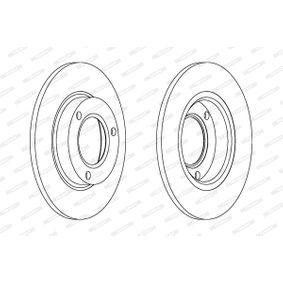 Bremsscheibe Bremsscheibendicke: 24mm, Lochanzahl: 5, Ø: 260mm mit OEM-Nummer 26300-AE040