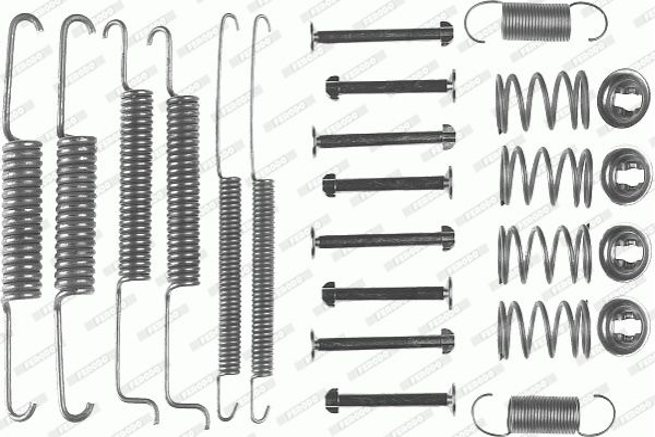 Zubehörsatz, Bremsbacken FBA16 FERODO FBA16 in Original Qualität