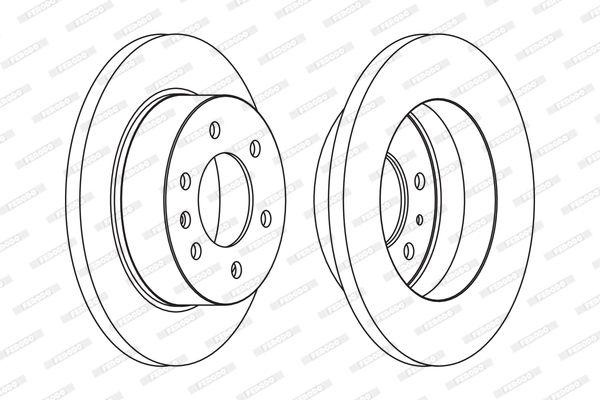 FERODO PREMIER FCR311A Bremsscheibe Bremsscheibendicke: 16mm, Lochanzahl: 6, Ø: 298mm