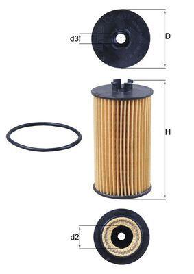 KNECHT Ölfilter Filtereinsatz  OX 401D