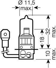 Крушка с нагреваема жичка, фар за дълги светлини 62201 OSRAM 62201 в оригиналното качество