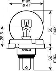 Крушка с нагреваема жичка, фар за дълги светлини OSRAM 64203 оценка