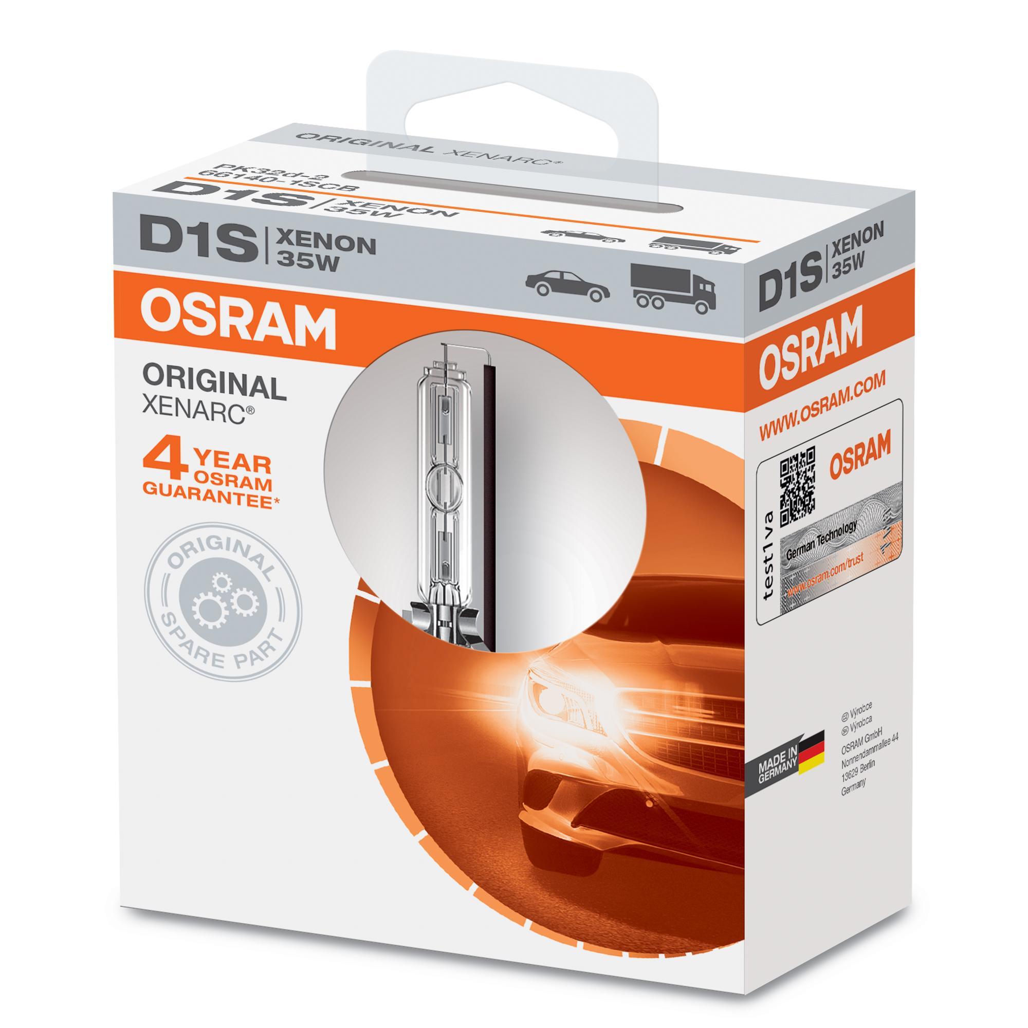 Glödlampa, fjärrstrålkastare 66140 OSRAM D1S original kvalite