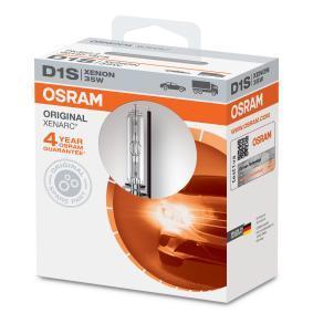 Крушка с нагреваема жичка, фар за дълги светлини D1S (газоразрядна лампа), 35ват, 85волт 66140