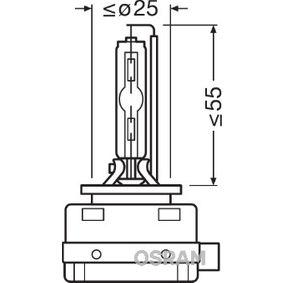 Крушка с нагреваема жичка, фар за дълги светлини D1S (газоразрядна лампа), 35ват, 85волт 66140CLC