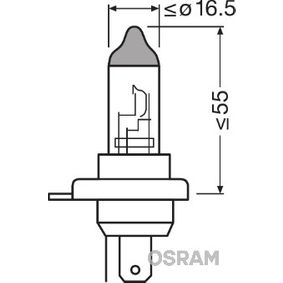 Bulb, headlight HB2, P43t, 60/55W, 12V 9003L