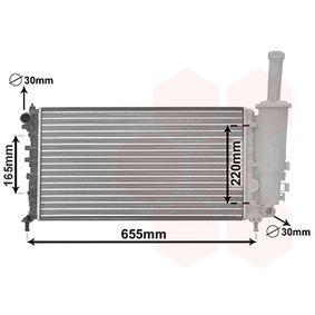 Radiator, engine cooling 17002999 PUNTO (188) 1.2 16V 80 MY 2004