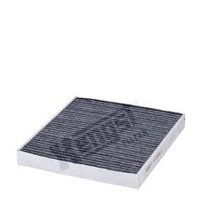Filter, Innenraumluft Länge: 250,0mm, Breite: 235,0mm, Höhe: 30,0mm mit OEM-Nummer 5Q0 819 653