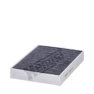 HENGST FILTER  E2991LC Filter, Innenraumluft Länge: 249,0mm, Breite: 198,0mm, Höhe: 41,0mm
