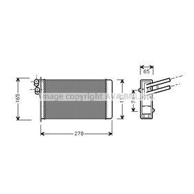 Wärmetauscher VW PASSAT Variant (3B6) 1.9 TDI 130 PS ab 11.2000 PRASCO Wärmetauscher, Innenraumheizung (AI6097) für