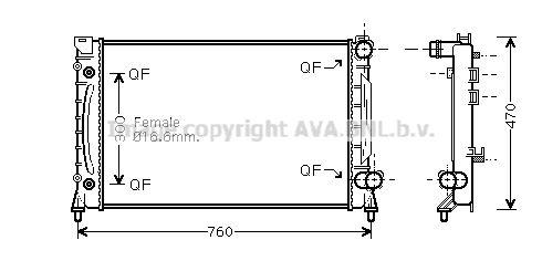Frigair radiador agua radiador motor refrigeración motor radiador 0110.3124