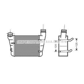 PRASCO Ladeluftkühler AIA4221 für AUDI A4 (8E2, B6) 1.9 TDI ab Baujahr 11.2000, 130 PS