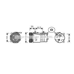 Klimakompressor Riemenscheiben-Ø: 119mm mit OEM-Nummer 1J0 820 805