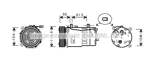 PRASCO Kompressori, ilmastointilaite