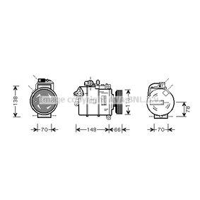 Compresor, aire acondicionado Polea Ø: 110mm con OEM número 8E0260805N